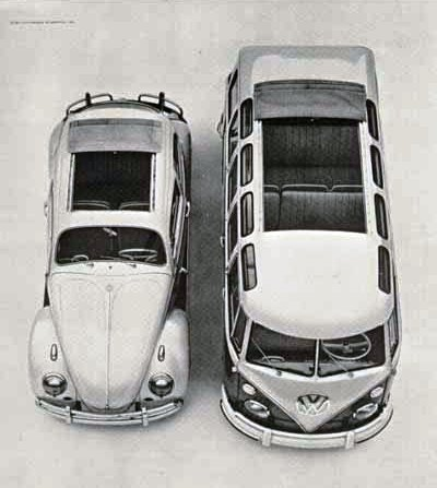 VW Transporter and Beetle with sunroofs