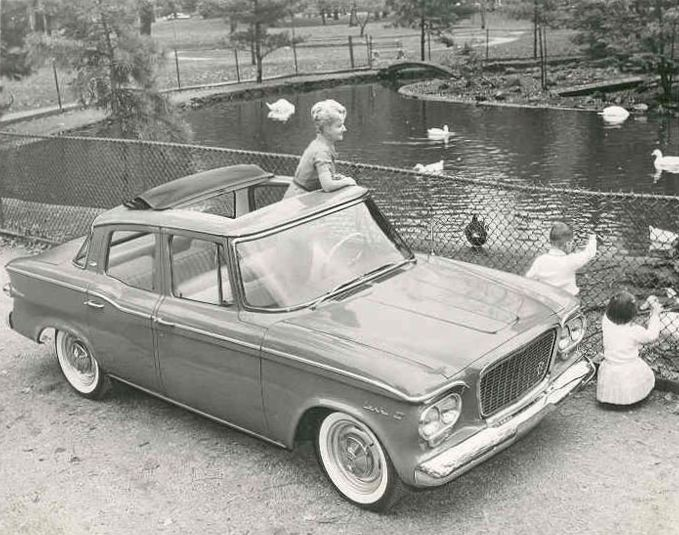 1961 Lark hardtop with Skytop - Factory Photo