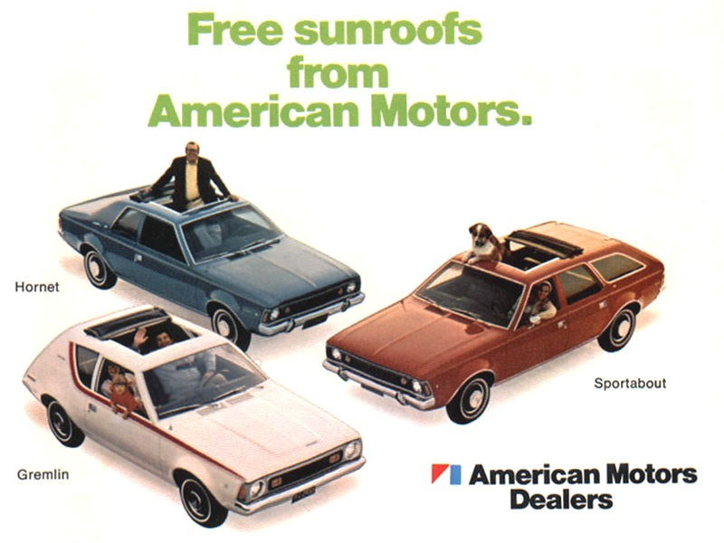 AMC advertisement with sunroofs