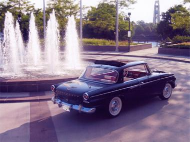 '62 Daytona hardtop at fountain - Joe Fay