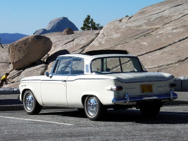 1961 Lark Regal hardtop at Olmstead Point - Al Reed